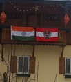 austrian indian flag on our house