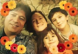 Bild von uns vier